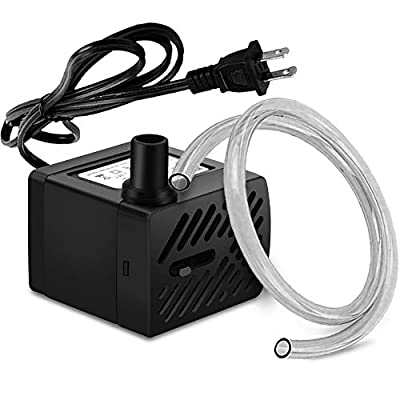 PULACO 50GPH 3W Mini Submersible Water Pump for Aquariums, Fish Tank,Wave Maker Pump, Pond, Fountain, Hydroponics