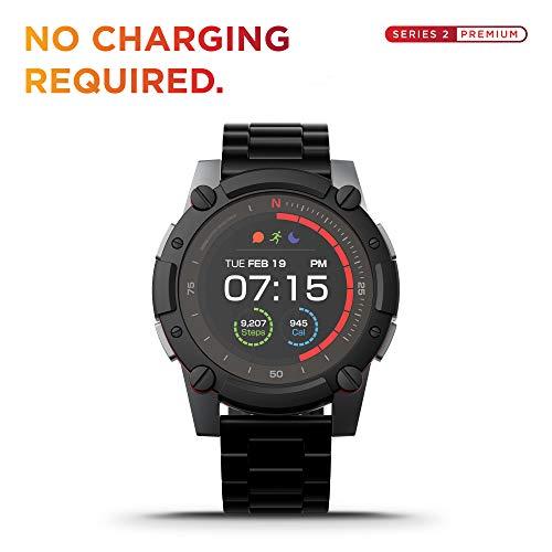 PowerWatch 2 Smart Watch - Premium Edition, Körperwärmebetriebene Fitness Tracker Smart Watch, Wasserdicht bis 200 m, Hauttemperatur, GPS und Höhe, Kalorien- und Schrittzahl, iOS und Android