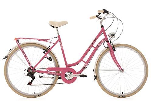 KS Cycling Damenfahrrad Cityrad 28'' Casino pink 6Gänge RH53cm