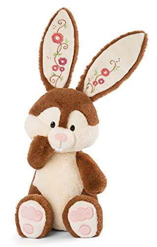NICI 47342 Kuscheltier Poline Bunny 35cm – Hase Plüschtier für Mädchen, Jungen & Babys – Flauschiges Stofftier zum Kuscheln & Spielen – Weiches Schmusetier I Forest Friends Kollektion, braun/beige