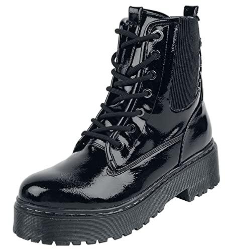 Refresh Shiny Boot Mujer Botas Negro EU38, Poliuretano,