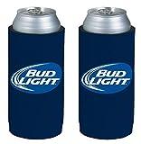 Kolder Licensed Beer Can Bottle Neoprene Beverage Huggie Holders (Bud Light Logo - Tall Boy 24oz 2-Pack)