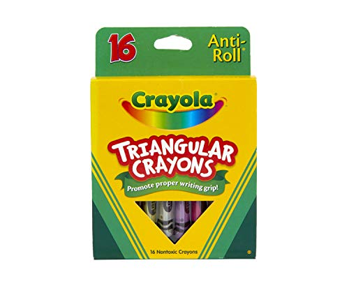 Crayola Triangular Crayons, Toddler Crayons, Coloring Gift for Kids Assorted, 7/16 X 4 in