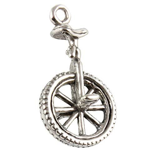 Broche de plata de ley para pulsera monociclo