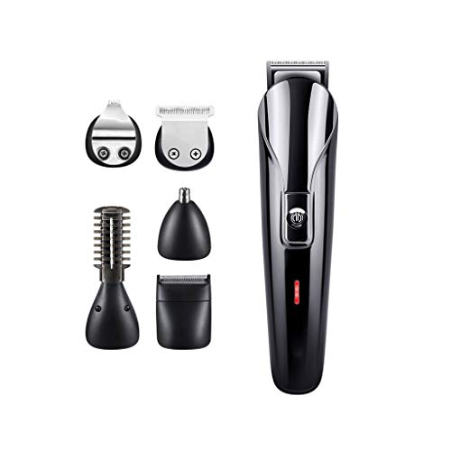 GMLFQ 6-in-1 Hair Clipper, Electric Trimmer Multi-Function Portable Home Hair Salon Professional Beauty Kit - Give Father The Best Gift (Color : USB)