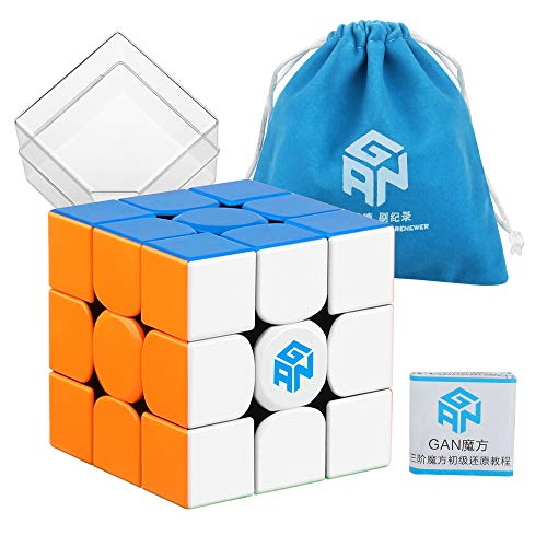 Coogam Gans 354 M Speed Cube Stickerless 3x3 Gan354 Magnetic Puzzle Speedcube...