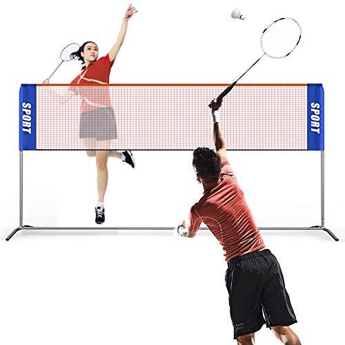 Eyeleaf - Juego de bádminton con red de bádminton ajustable de 3,1 m para jardín, voleibol, red plegable de bádminton, tenis, adultos y niños, red de bádminton al aire libre para entrenamiento de