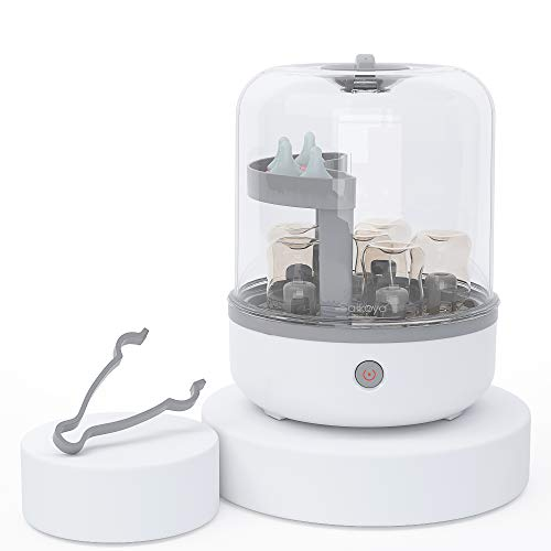 SAIKOYA Baby Bottle Cleaned and Milk Bottle Steam Sterilizer for Baby Bottles, Pacifiers and Breast Pumps, Eliminating 99.99% of in 8 Minutes.