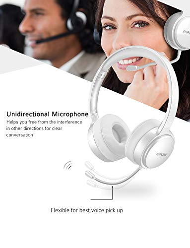 Mpow USB Headset (All-Platform Edition) with 3.5mm Jack, Stereo Computer Headset with Microphone Noise-   Canceling, Skype Headphones W/Comfort-Fit Earpad, Inline Volume Control for PC/Laptop/Cell Phone