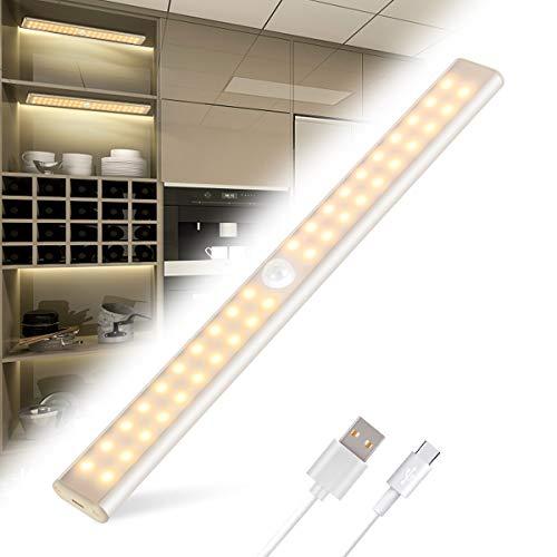 armadio bianco Luce Armadio Tanbaby Led Armadio con Sensore di Movimento con USB Ricaricabile 40 LED Luci Camera da Letto con Striscia Magnetica Adesiva
