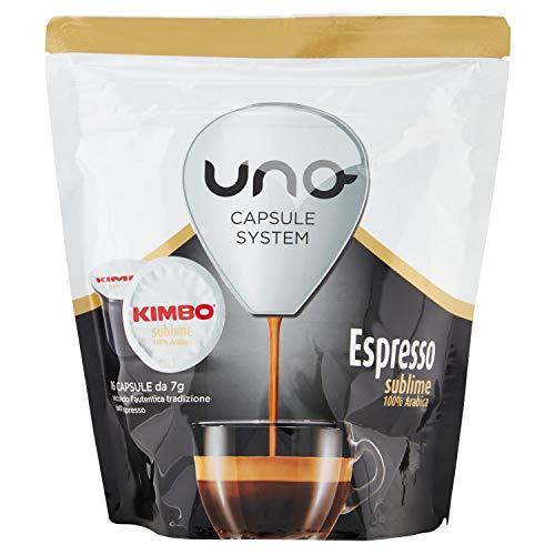 Kimbo Capsule di caffè - Compatibile con il sistema di capsule UNO - Espresso Sublime (6 x 16 capsule)