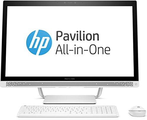Ordenador de sobremesa Integrado HP Pavilion 27-A259NG, 27 Pulgadas, Intel Core i5-7400T, 8 GB RAM, 1TB HDD, 128 GB SSD, Tarjeta gráfica Intel HD 630, Windows 10 64 bit, Color Blanco.