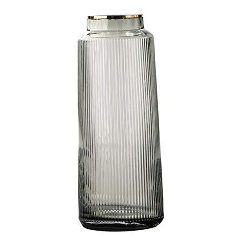 perfk Glas Blume Vase, Klar Container für Frische Cut Getrocknete Blumen, Mittelpunkt Blume Anordnung Hochzeit Party-Event Home Office Decor - Grey 30cm