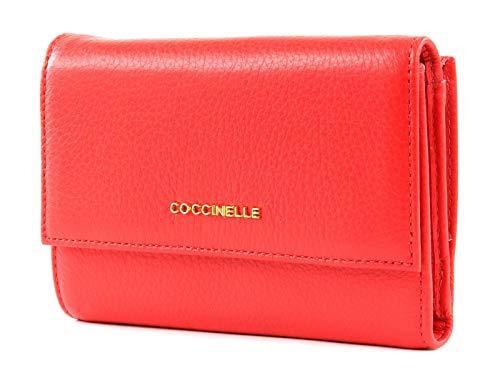 Coccinelle Flap Wallet Metallic Soft Flap Wallet Polish Red Flap Wallet