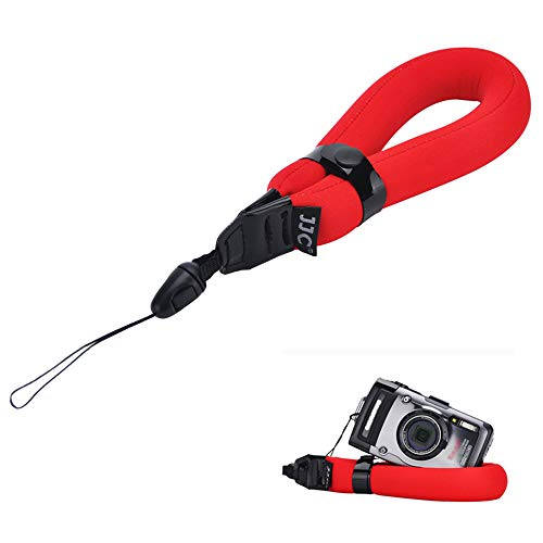 Floating Wrist Strap JJC Waterproof Camera Float Hand Strap for Olympus TG-6 TG-5 TG-4 Fujifilm FinePix XP140 XP120 Nikon Coolpix W300 W150 Gopro Hero 9 Here 8-Red