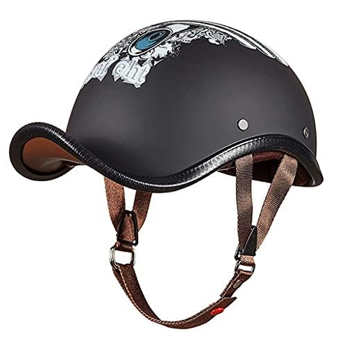 LAMZH Casco personalizado aprobado por DOT, casco de motocicleta de verano, casco retro Prince medio casco para adultos, para hombres y mujeres, protección (color: C, tamaño: XL)