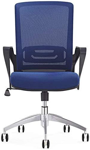 Shengluu - Silla de oficina de malla transpirable, ergonómica, silla de oficina ajustable con ruedas, silla de oficina reclinable de oficina con reposabrazos moderna y minimalista.