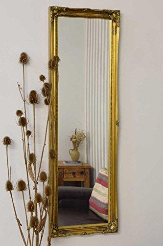 Volledige lengte antiek goud spiegel/hall kaptafel met pilkington-glas van premium kwaliteit afmetingen: 124,5 x 40,6 cm (40 cm x 124 cm)