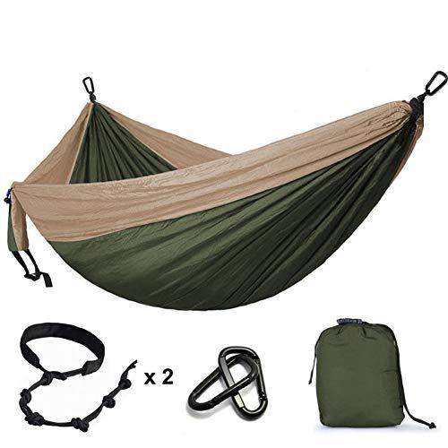 DCKJL hangmat 300 * 200cm Ultra-Large 2-3 personen slapen Parachute Hangstoel Tuin Swing Opknoping Outdoor Hamacas Camping 118 * 78''