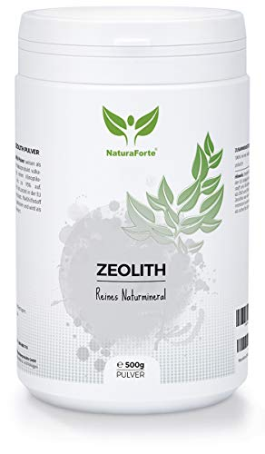 NaturaForte Zeolith Pulver 500g - Klinoptilolith 95{f25ab3f64d70084fcd4cff2d971f0b74733d4bea2d7122e2e33a6b185c548364}, Vulkanerde extra fein gemahlen in Premium Qualität, ohne Zusätze, Reines & naturbelassenes Vulkangestein, geprüft & kontrolliert in Deutschland