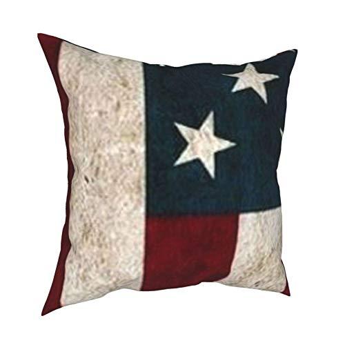 Funda de cojín de la bandera americana para el hogar, sofá, funda de almohada decorativa de regalo de 45,7 x 45,7 cm