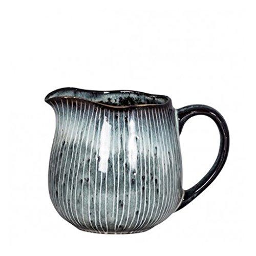 Broste Milchkännchen NORDIC SEA Keramik grau - blau