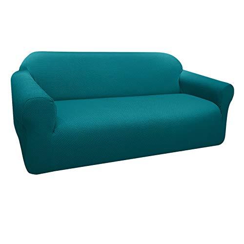 Granbest Funda de Sofá Elástica Súper Gruesa con Diseño Elegante Universal Funda Sofá 3 Plaza Antideslizante Protector Cubierta de Muebles (3 Plaza, Verde Negruzco)