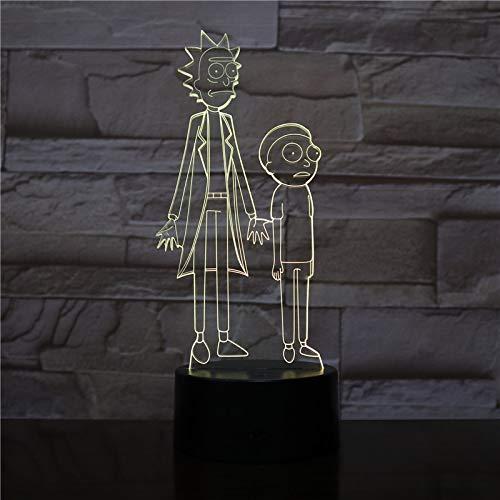 Cartoon Crazy Funny Professor LED Nachtlicht USB Dekoration Nachtlicht Kind Kinder Geschenk Cartoon Nachttischlampe Schlafzimmer Gadget