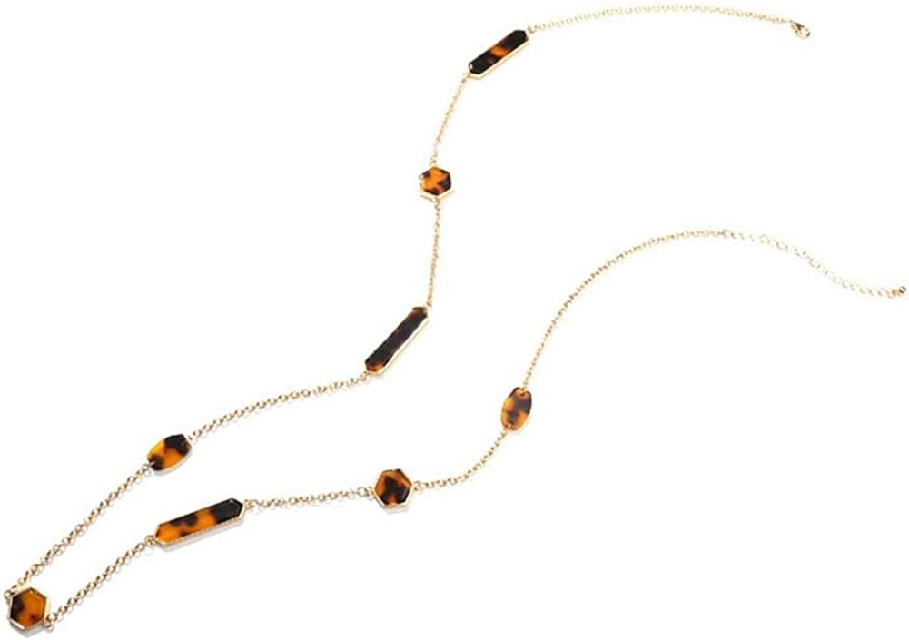 Acrylic Collar Necklace Bohemian Tortoise Resin Brand new Shell supreme Link Chain