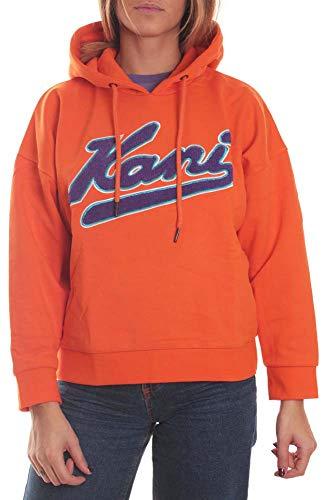 Karl Kani College Hoodie Kapuzenpullover für Damen, Orange/Violett, Orange Large