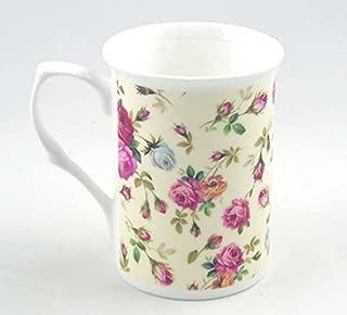 Fine English Bone China Mug - Rose Basket Cream Chintz