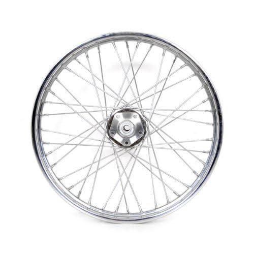 21 inch harley wheels amazon Honda VTX 1300R Trunk 21 40 spoke chrome billet hub front wheel for harley xl fdx