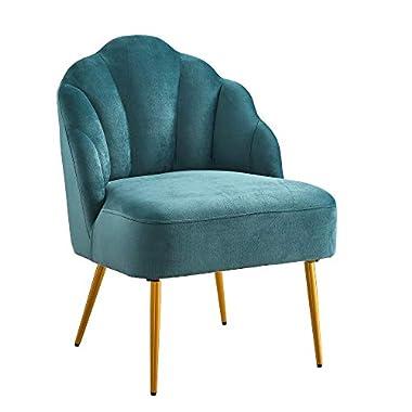 Ball & Cast Living Room Upholstered Accent Chair 23.5″W x 26″D x 32.25″H Jasper,Velvet Set of 1