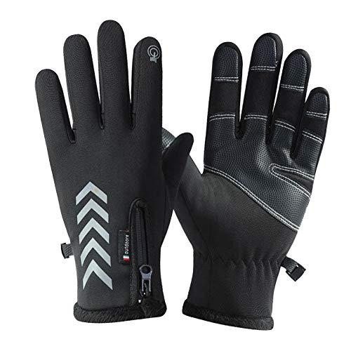 DYNWAVE 冬の屋外サイクリングハイキングスポーツグローブタッチスクリーン - L黒K112
