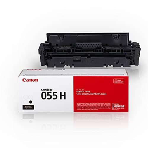 Canon Genuine Toner, Cartridge 055 Black, High Capacity (3020C001) 1 Pack, for Canon Color imageCLASS MF741Cdw, MF743Cdw, MF745Cdw, MF746Cdw, LBP664Cdw Laser