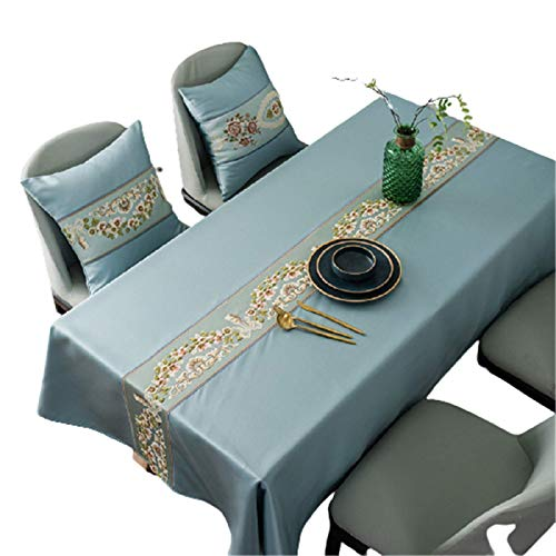 CCBAO Polyester Embroidered Table Runner Thick Waterproof Tablecloth Rectangular Tablecloth Tablecloth