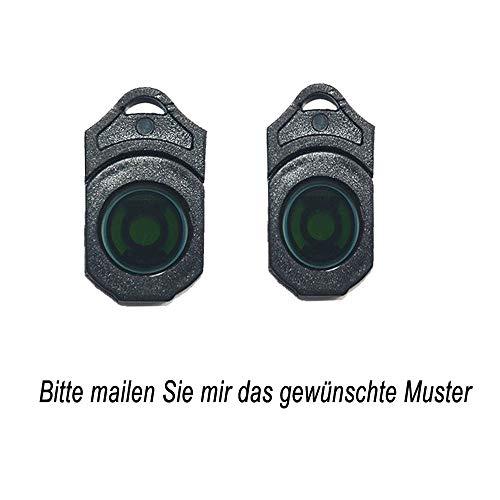 MIVISO 2 Stücke Auto Logo Ersetzen Objektiv Drahtlose Projektor Autotür Schritt Courtesy Willkommen Lichter Ghost Shadow Lampen Diashow- (2 x Ersetzen Objektiv Chips)