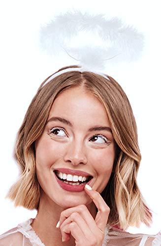 Balinco Haarreif Heiligenschein weiß | Haarreifen Engel | Christkind - das perfekte Accessoire für Damen, Herren & Kinder als Ergänzung zum Engelskostüm