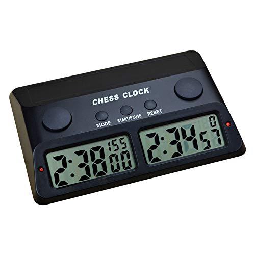 Reloj de ajedrez con Pantalla Digital Profesional Multifuncional, Reloj de Juego de Mesa electrónico con Contador de Tiempo, ajedrez de Juego de Mesa electrónico