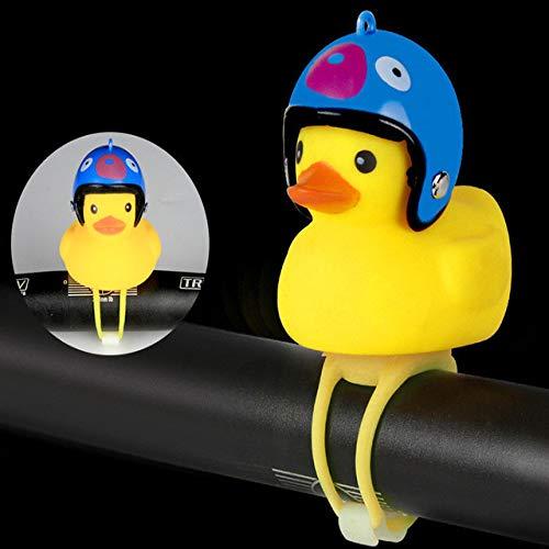 Mountainbike Licht Set Silikon Little Yellow Duck Shaped Fahrradklingel USB Wiederaufladbares Fahrrad Licht