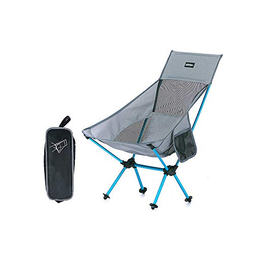Daily necessities LTD [ZZHQ] Folding Chair, Outdoor Folding Portable Camping Siesta Chair, Ultra-light Compact Chair Recliner, Medium Backrest, for Backpacking/Hiking/Picnic/Fishing/Beach/Garden
