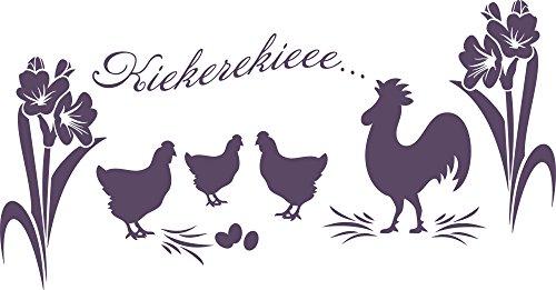 GRAZDesign Muursticker voor de woonkamer, hal en Pasen decoratieve wand - Muurtattoo Paaseieren / 810253 96x50cm 582 Bishop Purple