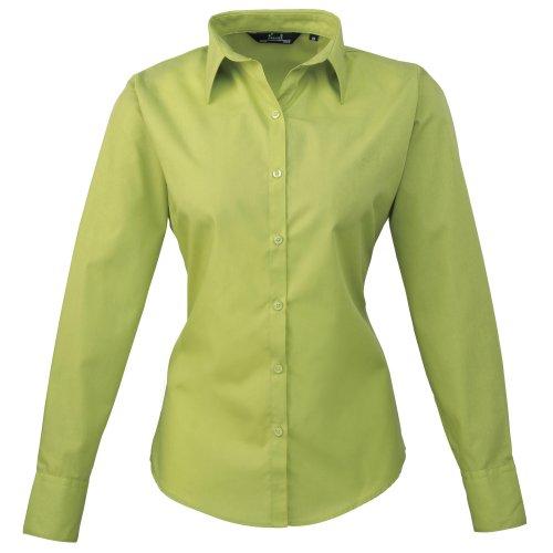Premier Frauen/DamenPopeline Bluse / Schlichtes Arbeitshemd lang�rmelig (38)(Size:10) (Limette) DE 38,Limette
