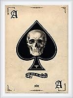 ポスター アーティスト多数 The Ace of Spades 額装品 ウッドハイグレードフレーム(ホワイト)