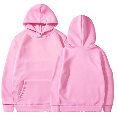 BXBX Unisex Hoodie Tracksuit Sweat Coat Casual Sportswear Hoodies Hombre Hip Hop Manga Larga Sudadera con Capucha 406 (Color : Pink, Size : XX-Large)