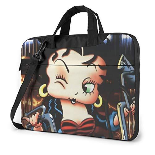 Be-Tty Bo-Op Shakeproof Waterproof Laptop Messenger Shoulder Bag Case Sleeve Briefcase with Adjustable Shoulder Strap for 13 Inch 14 Inch 15.6 Inch