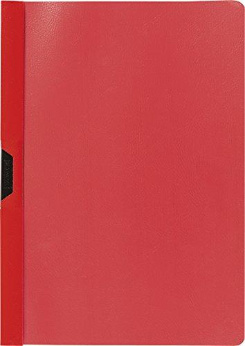 Brunnen 102014020 - Cartellina con clip formato A4, copertina trasparente, in pellicola di polipropilene, colore: Rosso