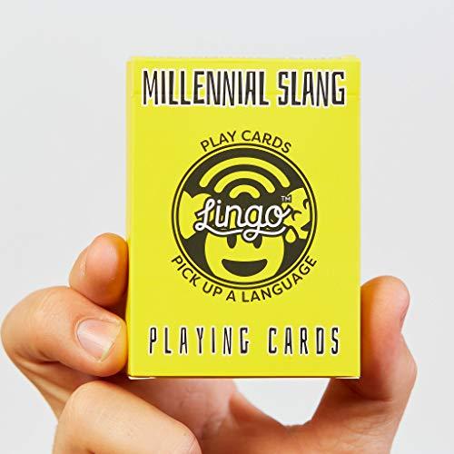 Lingo Slang Playing Cards   Language Learning Game Set   Fun Visual Flashcard Deck to Increase Vocabulary and Pronunciation Skills (Millennial Slang)