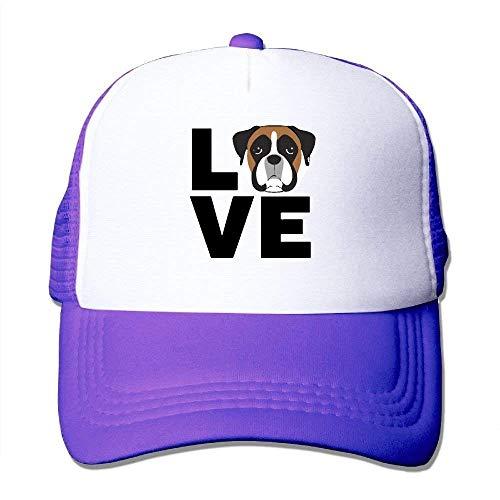 Voxpkrs 1 Love Boxer Dog Adjustbale Baseball Caps Summer Sun Hat Tracker Cap U8I0013108