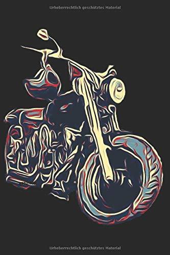 Motorrad Notizbuch: gepunktet